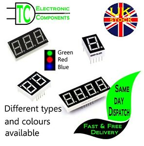 7 Segment LED Displays Common anode/cathode Different bits and colours 0.56 inch