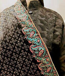 Designer Women Velvet Pakistani Indian Wedding Shadi Shawl Wrap