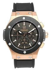 HYAKUICHI 101 Watch Pink Gold Carbon Dial Rubber Belt Black Chronograph F/S New