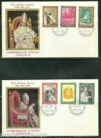VATICAN  CITY 1966 VATICAN COUNCIL GOLDEN SERIES  FIRST DAY COVERS