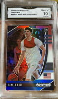 2020 Panini Prizm Lamelo Ball Rookie Red White Blue #43 GEM MINT 10 Refractor