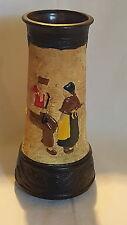 Bretby vintage art deco antico OLANDESE MAN & WOMAN design vaso di grandi dimensioni una