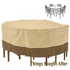 Cover for Medium Round Patio Table & Chair Set Outdoor Furniture Picnic Veranda