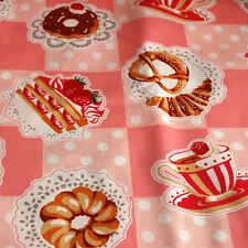 Lila/'s Kitchen Relojes Rojo 100/% de retazos de tela de algodón Patchwork MAKOWER