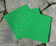 x3 NEW for Lego Green Base plate Base board figure Brick Building 16 x 16 Dots