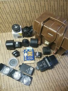 Lot Teleconverter flash vivatar Nikon Hoya Amir .45x 2x Minolta MD CF TOYO MACRO