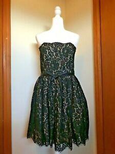 Neiman Marcus Robert Rodriguez Target Black Lace Strapless  Dress Size 12