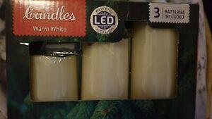 3 LED WHITE CANDLE LIGHT