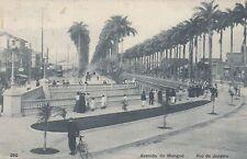 Rio de Janeiro Brazil AK 1909 Avenida do Mangue Passanten Rad Brasilien 1702049