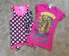 Lot of 13 Girls Youth Size 10 10-12 Shirts Skirts Pants Sweater Justice Ed Hardy