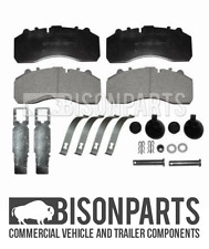 +FITS DENNIS ENVIRO 500 FRONT OR REAR BRAKE PAD SET & FITTING KIT BP63-002