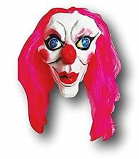 Pink Kiss Clown Latex Mask Adult Halloween Creepy Costume Accessory