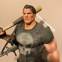 Sideshow Punisher Premium Format 1/4 Statue Custom Battle Damage Head Exclusive
