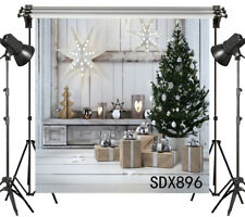 Chalet Christmas Party Photography Props 6x6FT Background Polyester Backdrop
