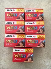 7x AGFA PHOTO vista 200asa 36 mm 24exp pellicola a colori di stampa-scaduta