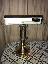 Vintage Brass Antique Finish Adjustable Arm Banker Student Desk Piano Lamp
