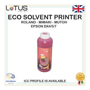 MAGENTA Eco Solvent Ink For Roland, Mimaki, Mutoh-Epson DX4/5/7