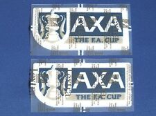 LEXTRA SPORTING ID AXA FA Cup Final Player Issue armpatches stagioni 1998-2002