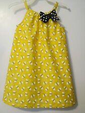 Boutique YELLOW BUMBLEBEE SUNDRESS - not pillowcase Size 4T