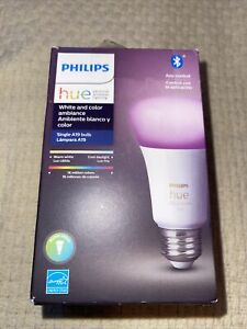 Philips Hue A19 Bluetooth Smart LED Bulb 60W White and Color Ambiance