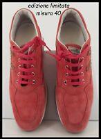 HOGAN INTERACTIVE originali da donna 40 fucsia camoscio con scarpa scarpe nuove