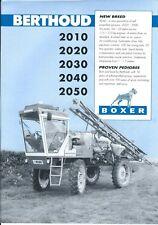 Farm Equipment Brochure - Berthoud - 2010 Boxer et al - Sprayer (F5751)