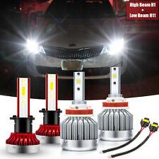 For Kia Optima 2011-2015 Xenon White 6000K LED COB Headlights High Low Beam DRL