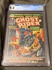 MARVEL SPOTLIGHT #5 1ST APP GHOST RIDER MARVEL AUG 1972 CGC 9.2 $260k In 9.8