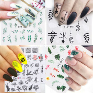 1pc Nail Sticker Flower Water Transfer Decals Nail Art Tips Nail Accessories