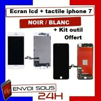 ECRAN LCD IPHONE 7 NOIR BLANC AVEC VITRE TACTILE SUR CHASSIS  Kit outil Original