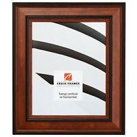 """Craig Frames Prairie Classic, 2"""" Country Brown Wood Picture Frame, Custom Sizes"""
