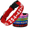 Embroidered Dog Collar Nylon Personalized Pet Puppy Cat ID Tag with Name Phone