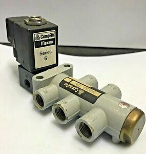 "Parker CompAir Maxam Series 5 705207 10M 5/2-Way Solenoid valve 1/4"" 240V AC  8W"