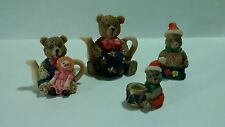 Christmas Bear Figurines Collectible Lot
