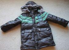 PUPKIN PATCH Boys Fleece Lined Warm Jacket Coat with Hood aged 4-5 EC AS NEW