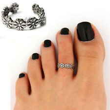 Elegant Women Lady 925 Sterling Silver Toe Ring Foot Adjustable Beach Jewelry