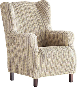 Martina Home Haber Elastic Armchair Cover Wing Chair 33x42x8 cm beige