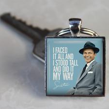 Frank Sinatra Keyring Sinatra I did it my way Keyring silver plated handmade UK