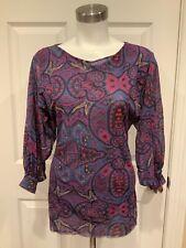 Sweet Pea by Stacy Frati Purple Geometric Print Shirt, Size Large
