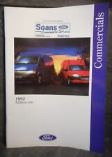Ford Commercials 1992 Edition One catalogue brochure for vans, transits, P100