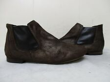 Sesto Meucci Italy Brown Leather Ankle Boots Womens Size 8 M