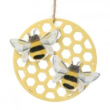 Gisela Graham Easter Bee And Honeycomb Decoration - Wooden hanging decoration