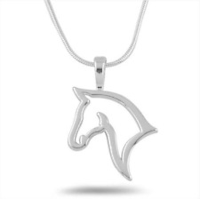 Horse Pendant Necklace Chain Women Girls Jewellery Party Gifts Cute Uk Seller