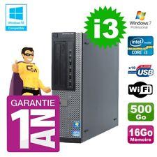 PC Dell 790 DT Intel I3-2120 16 GB Disco 500gb Masterizzatore Wifi W7