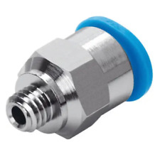 Festo QSM-M3-4 Push-In Fitting M3 male thread to 4 mm OD tube (New)