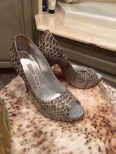 Luciano Padovan High Heel Snakeskin Pumps Size 38 Gray