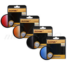 ZOMEI 58mm PRO Optical Graduated Gradual Color Filter Kit - Red Blue Orange Gray