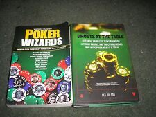LOT 2 BOOKS POKER-GHOSTS AT THE TABLE & POKER WIZARDS