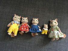 Sylvanian families raccoon family - parents, 2 children and baby