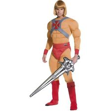 Men's Licensed Master Of The Universe He Man Fancy Dress Costume Movie Cartoon